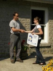 Stewardship award recipient