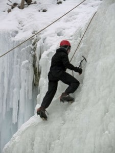 Ice climbing at Tiffany Falls