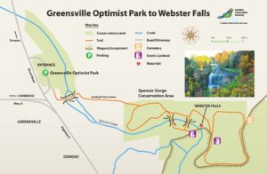 Webster Falls trail map